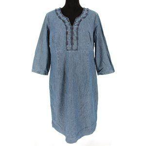 Boden Denim 3/4 Sleeve Knee High Dress 14L WH294